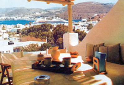 SEE VIEW of the KALDERIMI PATMOS APPARTMENT
